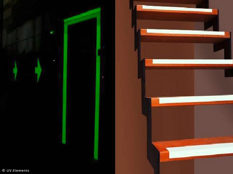 nachleucht tape 25mm x 2m gr n gelb schwarzlicht uv neon klebeband ebay. Black Bedroom Furniture Sets. Home Design Ideas