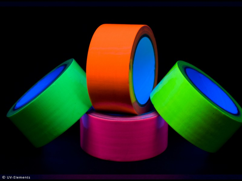 neon tape 1 rolle schwarzlicht uv neon klebeband ebay. Black Bedroom Furniture Sets. Home Design Ideas