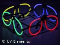 Knicklichtbrille Set 4Stk (blau, grün, rot, gelb)
