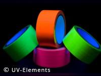 Neon-Tape Set (1 Rolle je Farbe in gelb, grün, pink, orange)