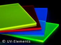 Fluoreszierende Acrylglasplatte 21x29cm 3mm