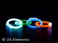 UV-aktives Leuchtringeset 4Stk. pro VE